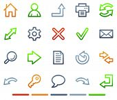 Basic web icons, colour symbols series