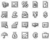 Finance web icons, grey sticker series