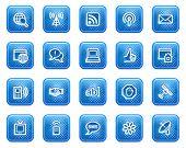Постер, плакат: Интернет веб иконки синий квадратных кнопок с точками