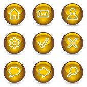 Basic web icons, gold glossy series