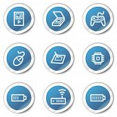 Electronics web icons set 2, blue sticker series