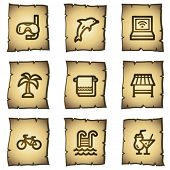 Vacation web icons, papyrus series