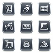 Computer web icons,grey square buttons