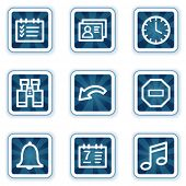 Organizer web icons, navy square buttons