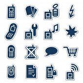 Telefones móveis web ícones, série Marinha vinheta