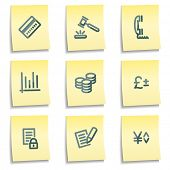 E-business icons, yellow notes series