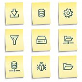 Server icons, yellow notes series