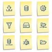 Server-Ikonen, merkt gelb Serie