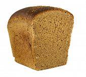 Постер, плакат: ржаной хлеб на белом фоне
