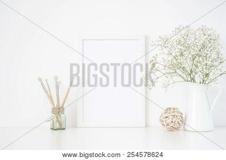 White Frame Mockup A4 In