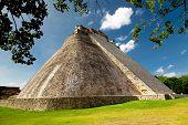 Adivino Pyramid in Uxmal, Mexico