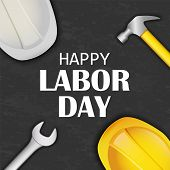 Happy Labor Day Concept Background. Realistic Illustration Of Happy Labor Day Vector Concept Backgro poster