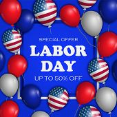 Special Offer Labor Day Concept Background. Realistic Illustration Of Special Offer Labor Day Vector poster