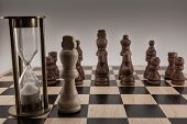 The Chess Game. The Lonely White King Against The Whole Group Of The Black Pieces. There Is Safety I poster