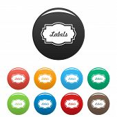 Nice Label Icon. Simple Illustration Of Nice Label Icons Set Color Isolated On White poster