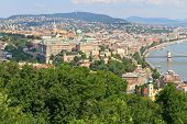 Buda Castle And Danube, Budapest, Hungary