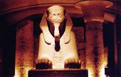 Sphinx At A Temple In Egypt, New Kingdom