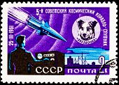 Space Dog Chernushka Sputnik 9 Rocket