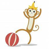 Vector Nursery Cute Wild Mammal Animal Naughty Monkey poster