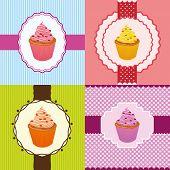 Cupcake Invitation Cards