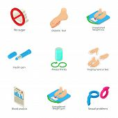 Постер, плакат: Reproduction Icons Set Isometric Set Of 9 Reproduction Vector Icons For Web Isolated On White Backg