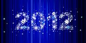 Christmas background with star inscription 2012, this illustration may be usefull to create greeting card or banner.