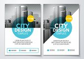 Vector Illutration Poster Flyer Pamphlet Brochure Cover Design Layout Template In A4 Size With Graph poster