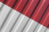 Metal White And Red Sheet For Industrial Building And Construction. Roof Sheet Metal Or Corrugated R poster