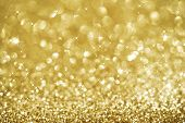 foto of gold glitter  - Christmas gold blinking background - JPG