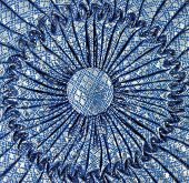 Thai Textile On Blue Pillow