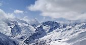 Mountains Panorama. View From The Ski Slope.