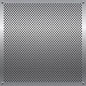 Shiny metal grid