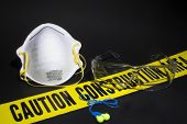 foto of osha  - Personal protective equipment at a construction site - JPG