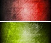Conjunto de bandeiras texturas abstratas. EPS 10
