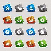 Cut Squares - classic web icons