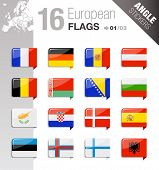 Angle Stickers - European Flags
