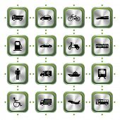 picture of vespa  - Transportation stylish icons set - JPG