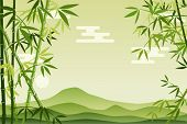 Abstract Green Bamboo Background. Illustration vector.