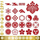 Japanese traditional elements set. Illustration vector.
