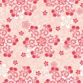 Abstract cherry blossoms pattern. Illustration vector.
