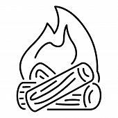 Burning Bonfire Icon. Outline Illustration Of Burning Bonfire Icon For Web poster