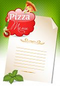 Pizza Menu Template, illustration