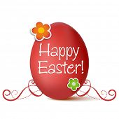 Easter greeting card, vector illustration