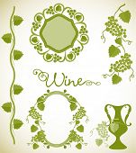 Wine themed designs, frames and borders.