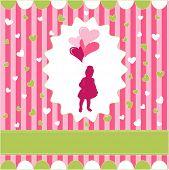 niña con globo, Rosa wallpaper