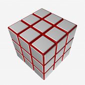 Cube-Puzzle Colourless
