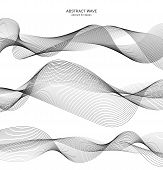 Abstract Wave Element For Design. Digital Frequency Track Equalizer. Stylized Line Art Background. V poster