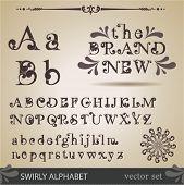 Alfabeto swirly.