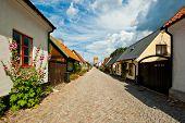 Sunny Street Scene In Visby, Gotland