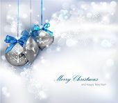 Weihnachten Hintergrund mit Ornamenten. Vektor-Illustration.